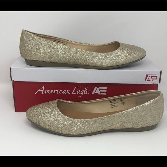 american eagle glitter flats